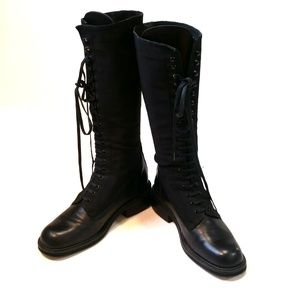 Thick calves? Charles David Lace up Combat Boots